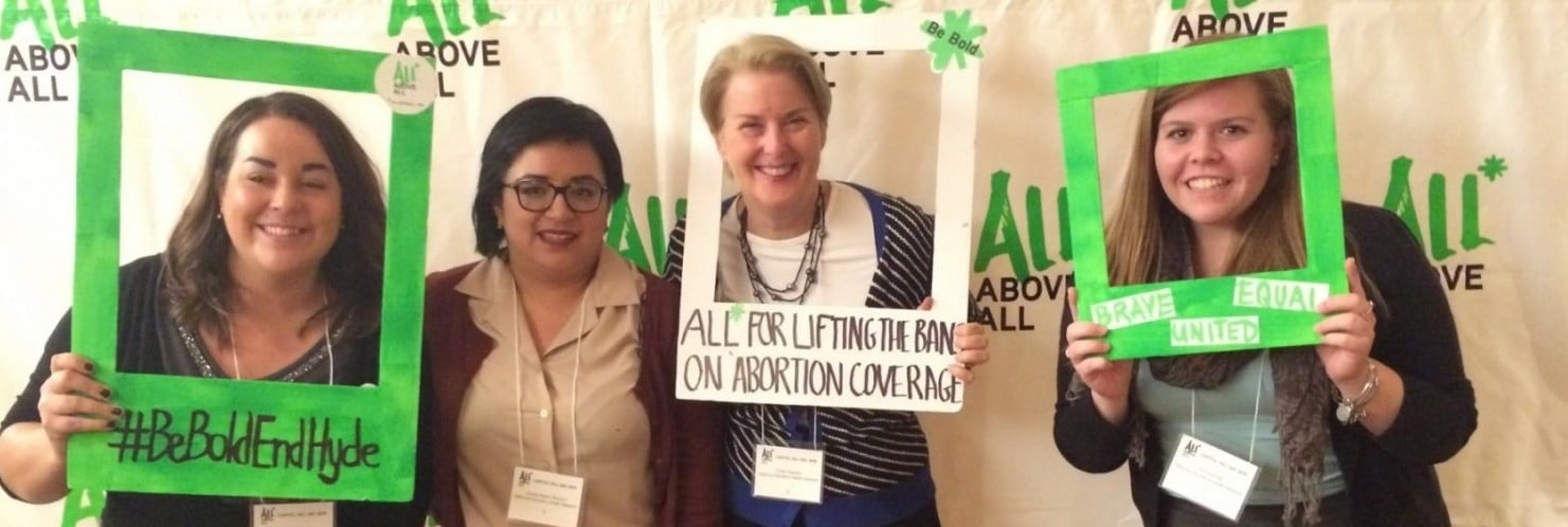 NWHN staff at the All* Above All Capital Hill Day - 2015.