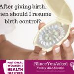 Birth Control After Childbirth